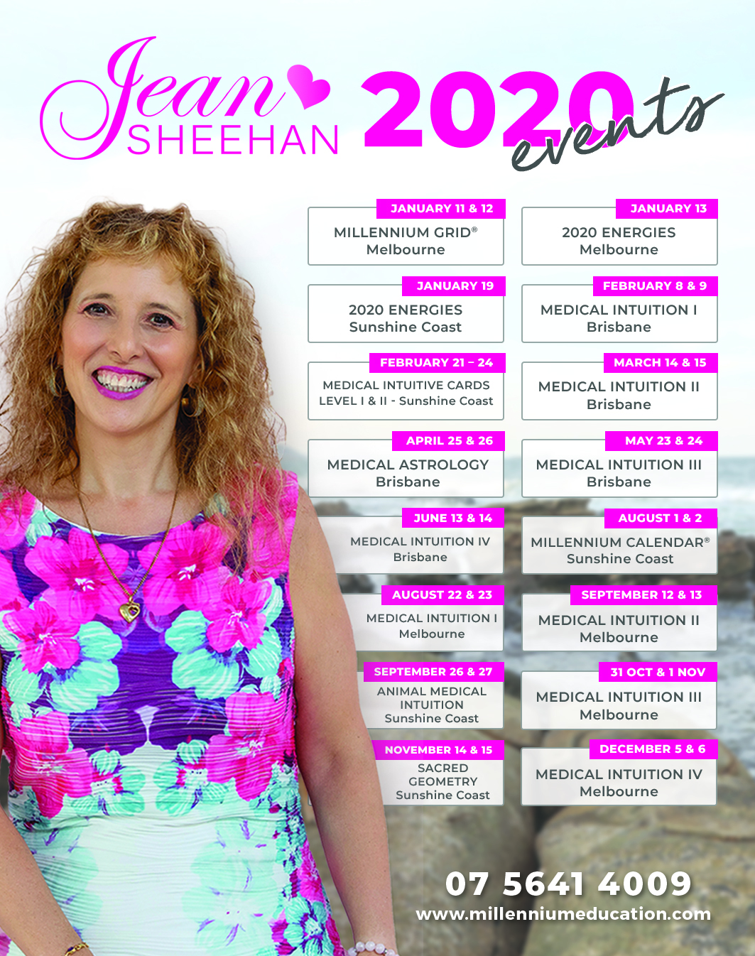ean Sheehan 2020 Course and Event List